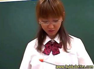 Asian Glasses Japanese School Teen
