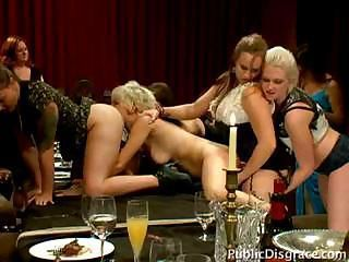 Poor dinner slave is used by ...