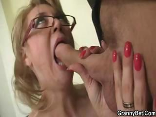 Mature blonde office boss mak...
