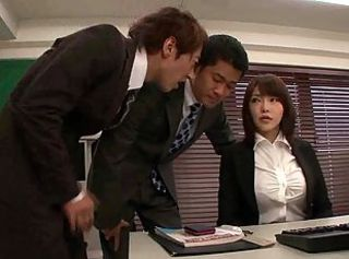 Asian Japanese  Office Secretary Threesome