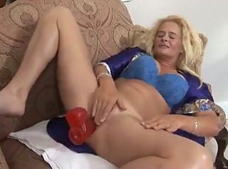 Big Tits Blonde Masturbating  Toy
