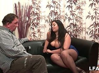 Chubby brunette in french porn