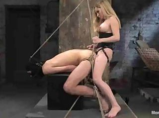 Bit of all right Aiden Starr Strapon Femdom