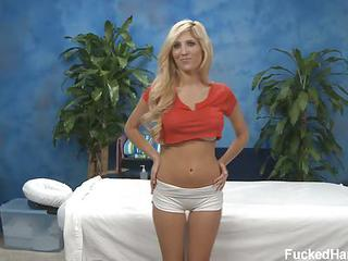 Sweet Tasha With Long Blonde Hair Is A Wonderful Girl In Red Top And T...