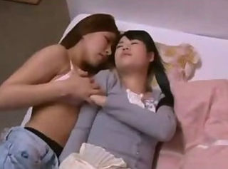 Asian Girl Kissed Getting Her Pussy Rubbed While Sleeping On The Ma...