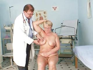 Fat Mature Radka Gets Real Speculum Going-over By Kinky Gyno Docto