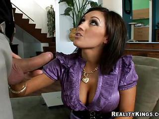Dylan Ryder Working Her Mommy Mouth Hard On A Hard Young Dick
