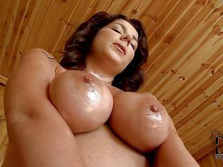Rye Is A Curvy Brunette With Big Naturals. She Shows Off Her Big Breas...