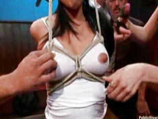 Girl Tied Up And Fucked By Men And Women
