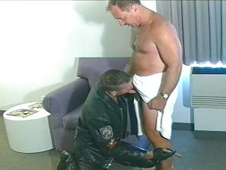Hot Daddy Sucks And Fucks Biker Stud