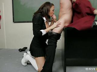 Schoolgirl Chanel Preston Sucks Off Her Horny Teacher