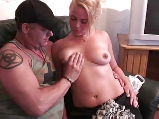Dutch Hooker Fucked On Someone's skin Sofa