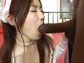 Asian  Blowjob Interracial Teen