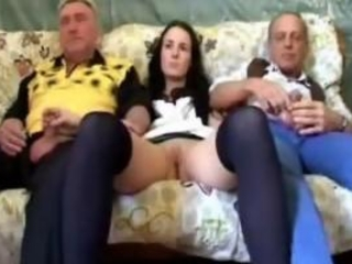 Girl Riding A Grandpa Cock