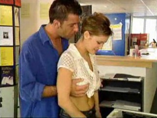 Busty French Stunner Fucked At The Photocopiers - Nm1...