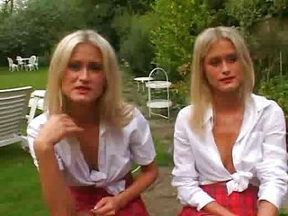 Spot on target Blonde Twins