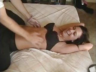 Roxy Gets Tickled In Black Bra And Panties