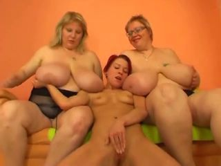 Beautiful mature bbw with huge boobs and slender women