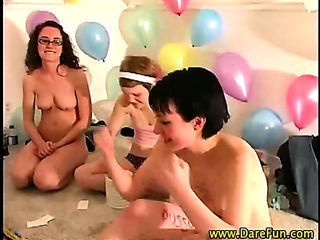 Teen group of lesbians have orgy