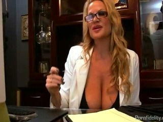 Busty Boss Interviews A Hot Anal Slut For The Office
