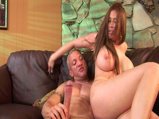 Big tits brunette milf riding daddy's monster throbbing boner