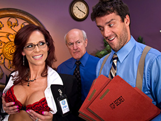 Glasses  Office Threesome
