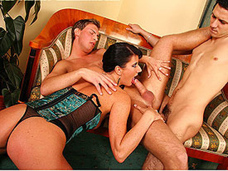 Two males One honey Bi Party