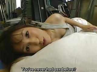 Subtitled Japanese Schoolgirl Lies With...