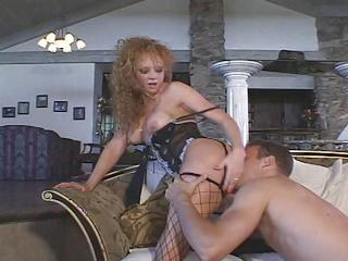 Pussy Stretching Session On Couch With B...