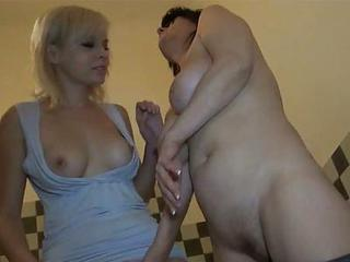 Horny Granny And Hot Young Honey Having...