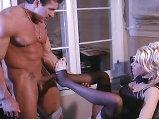Busty Secretary Fucking In Stockings And...