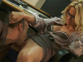Red Hot Jessica Drake Gets Tongue Fucked...