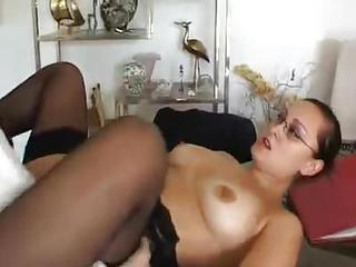 Secretary Services His Cock With Her Bod...
