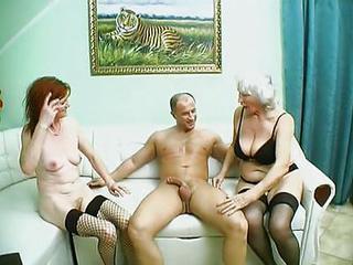 Granny Stockings Threesome