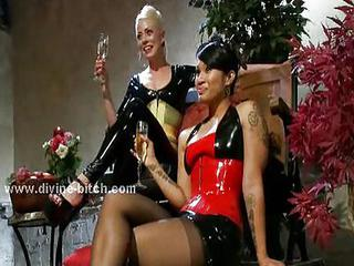 Three Nasty Dominatrix Ladies Torturing