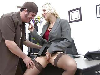 Hot Boss Ashley Fires Fucks On Her Offic...