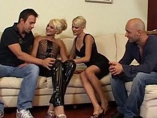 Blonde Groupsex Latex