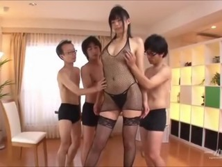 Tall asian uncensored group sex