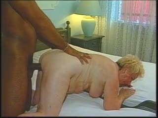 Doggystyle Granny Interracial