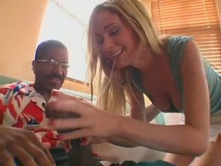 Blonde Blowjob Interracial Teen