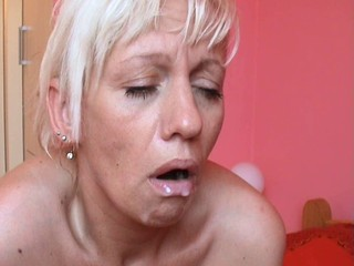 Blonde Granny Swallow