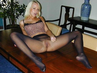 Blonde  Office Pantyhose
