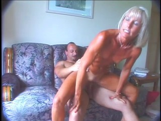 Admirable mature Ann masturbates and fucks!