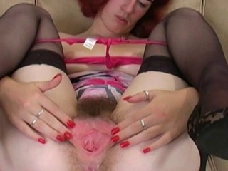 Clit Hairy  Stockings
