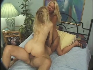 Blonde Facesitting  Riding Threesome