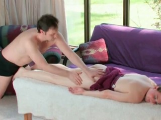 Sexy massage with soft curvy girl