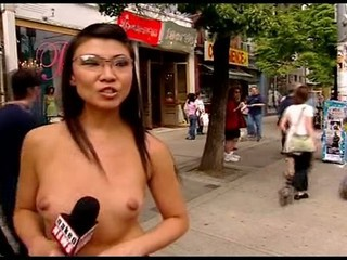 Asian Glasses  Nudist Public