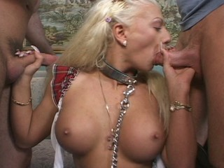 Double pussy penetration of a...
