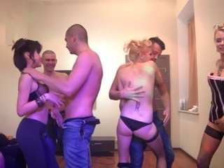 Hot sex party together with...