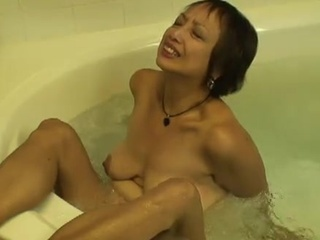 Mature orinetal lady makes...